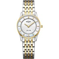 Rotary Ultra Slim Damenuhr in Two-tone gold LB08301/41 von Rotary
