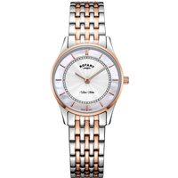 Rotary Ultra Slim Damenuhr in Two-tone rose LB08302/02 von Rotary