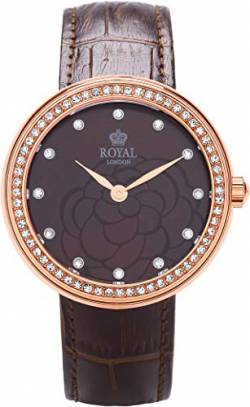 Royal London Ladies Fashion Damen-Armbanduhr analog Lederarmband 21215-05 von Royal London