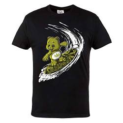 Rule Out Herren Cannabis T-Shirt. Weed Bear. Casual. Schwarz (Größe XXLarge) von Rule Out