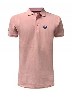 S&C Men's Regular Fit Short Sleeve Polo Shirt - Pink - L von S&C
