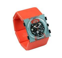 S.T.A.M.P.S. Stamps Uhr KOMPLETT - Zifferblatt Space Machine mit Belta Classic orange von S.T.A.M.P.S.