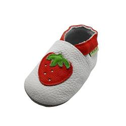 Sayoyo Baby Shoes Cute Strawberry Walking Shoes Soft Leather Sole Infant Toddler Prewalker Shoes von SAYOYO