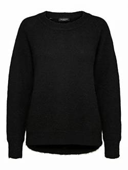 SELECTED FEMME Female Pullover Rundhalsausschnitt Woll MBlack von SELECTED FEMME