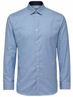 SELECTED HOMME Herren SHDONENEW-Mark Shirt LS NOOS Businesshemd, Mehrfarbig (Skyway Checks), Large von SELECTED HOMME