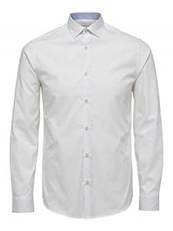 SELECTED HOMME Herren SHDONENEW-Mark Shirt LS NOOS Businesshemd, Weiß (Bright White), Large von SELECTED HOMME