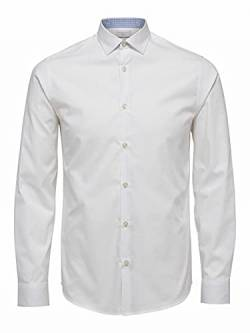 SELECTED HOMME Herren SHDONENEW-Mark Shirt LS NOOS Businesshemd, Weiß (Bright White), Medium von SELECTED HOMME