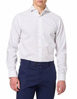 SELECTED HOMME Herren SLHREGSEL-Terry Shirt LS Dobby B NOOS Businesshemd, Weiß (White Detail, Large von SELECTED HOMME
