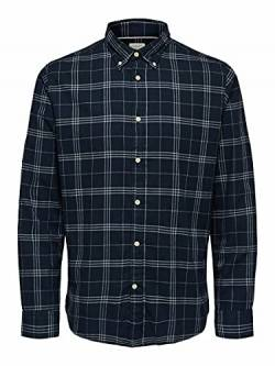 SELECTED HOMME Male Hemd Flannel MDark Blue 1 von SELECTED HOMME