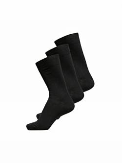 SELECTED HOMME Herren SHDPETE 3-Pack Cotton Rib NOOS Socken, Schwarz (Black), One Size (3er Pack) von SELECTED HOMME