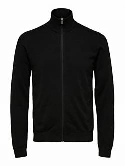 SELECTED HOMME Male Strickjacke Pima-Baumwoll SBlack von SELECTED HOMME