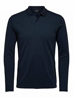 SELECTED HOMME Herren SLHPARIS LS B NOOS Polo, Dark Sapphire, L von SELECTED HOMME
