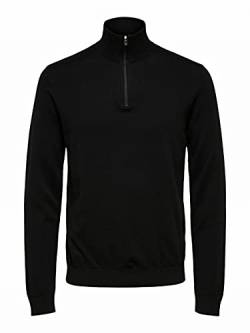 SELECTED HOMME Male Strickjacke Pima-Baumwoll LBlack von SELECTED HOMME