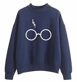 SIMYJOY Damen Fans Sweatshirt Lightning Scar Brille Pullover Mädchen Sweatshirt Locker Cool Jumper Loose Fitting Top von SIMYJOY