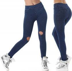 High Waist Jeggings, (8) Blau von SL1