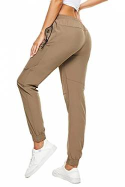 SMENG Ladies Hiking Pants Lightweight with Pockets and Elastic Bottom Ladies Tall Sweatpants Petite Tall Womans Sweatpants Women's Track Quick Dry Pants Khaki UK(14-16) von SMENG
