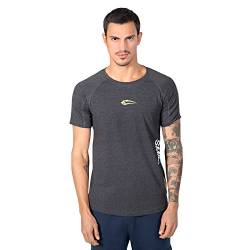 SMILODOX Slim Fit T-Shirt Herren 'Slim Fit 1.0 ' | Kurzarm | Sport Fitness Gym & Training | Trainingsshirt - Sportshirt, Größe:S, Farbe:Anthrazit von SMILODOX