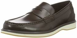 SWIMS Herren Barry Penny Classic Slipper, Braun (Brown White 025), 46 von SWIMS