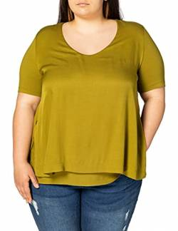 Samoon Womens 1/2 Arm T-Shirt, Avocado Green, 48 von Samoon