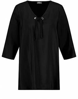 Samoon Womens Bluse 3/4 Arm Blouse, Black, 50 von Samoon