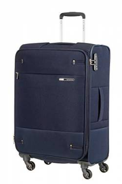 Samsonite Base Boost - Spinner M Erweiterbar Koffer, 66 cm, 67.5/73.5 L, Blau (Navy Blue) von Samsonite