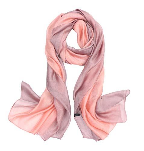 beybey Damen Seide Schal mit Farbverlauf