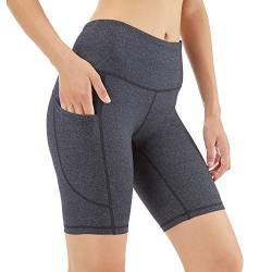 Scicent Leggings Kurze Damen Sport Shorts High Waist Sportleggins Yogahose mit Taschen Yoga Hose Laufhose Fitnesshose Jogginghose XL von Scicent