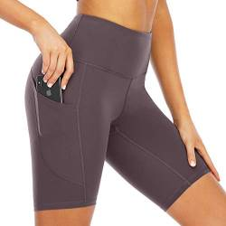 Scicent Kurze Hose Damen Shorts Leggings Blickdicht Yogahose Sporthose Sportleggins Yoga Hosen Laufhose Gym Shorts S von Scicent