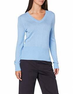 Scotch & Soda Maison Womens Lightweight Knit with Fitted Waist and v-Neck Pullover Sweater, Lake Blue 1542, XS von Scotch & Soda