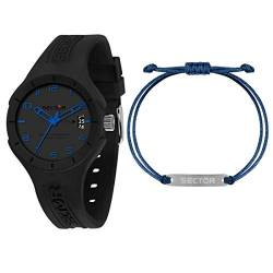 Sector No Limits Herrenuhr, Kollektion SPEED, Multifunktionsuhr, aus Nylon und Silikon - R3251514017 von Sector