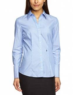 Seidensticker Damen Bluse Hemdbluse Langarm Slim Fit Gemustert Bügelfrei,  Blau (Hellblau 11), bf248fc518