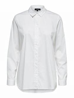 Selected Femme NOS Damen SLFORI LS Side Zip Shirt B NOOS Hemd, Bright White, 34 von Selected Femme NOS
