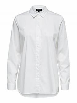 Selected Femme NOS Damen SLFORI LS Side Zip Shirt B NOOS Hemd, Bright White, 36 von Selected Femme NOS
