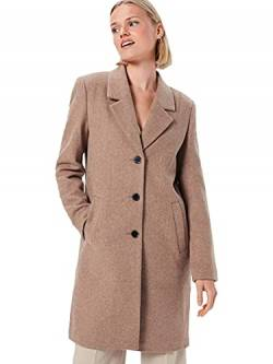 SELECTED FEMME Damen Slfsasja Wool Coat B Noos Mantel, Beige(AmphoraMelange), 42 von SELECTED FEMME