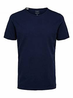Selected Homme NOS Herren 16071775 T-Shirt, Blau(Maritime BlueMaritime Blue), Medium von Selected Homme NOS