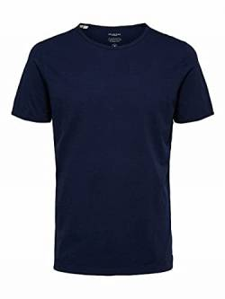 Selected Homme NOS Herren 16071775 T-Shirt, Blau(Maritime BlueMaritime Blue), X-Large von Selected Homme NOS