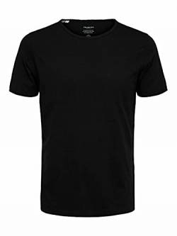 SELECTED HOMME Male T-Shirt Rundhalsausschnitt XLBlack von SELECTED HOMME