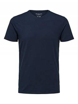 SELECTED HOMME Male T-Shirt Bio-Baumwoll XLNavy Blazer von SELECTED HOMME