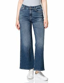 7 For All Mankind Damen Lotta Cropped Luxe Vintage Pacific Grove Flared Jeans, Blau (Mid Blue LG), 31W / 34L von 7 For All Mankind