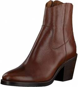 Shabbies Amsterdam Damen SHS0726 Ankle Boot 7 cm with Zipper Shiny Grain Leather, Brown, 39 EU von Shabbies Amsterdam