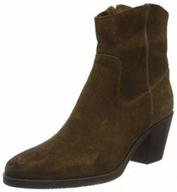 Shabbies Amsterdam Damen SHS0726 Ankle Boot 7 cm with Zipper Waxed Nubuck, Warm Brown, 42 EU von Shabbies Amsterdam