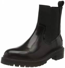 Shabbies Amsterdam Damen SHS0763 CHELSEA ANKLE BOOT 4 CM SHINY NAT DYED SMOOTH LT, Off Black, 40 EU von Shabbies Amsterdam