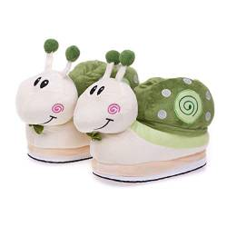Cartoon Animal Rabbit Shoes Home warm Shoes neutral Soft Plush Home Slippers Rabbit Shoes (Dunkelgrün) von Shi xiaoshu