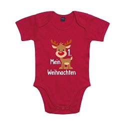 Shirt-Panda Baby Body Mein 1. Weihnachten Winter Christmas Rot 3-6 Monate von Shirt-Panda