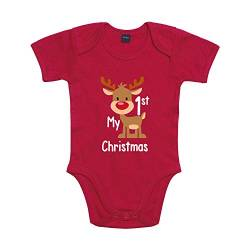Shirt-Panda Baby Body My 1st Christmas Winter Weihnachten Rot 6-12 Monate von Shirt-Panda