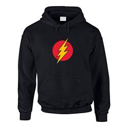 Hoodie The Flash Kapuzenpullover The Big Bang Theory Sheldon Leonard, M, schwarz-rot von shirtdepartment