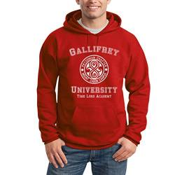 Shirtgeil Gallifrey University Rot XX-Large Kapuzenpullover Hoodie - Doctor Time Academy Who von Shirtgeil