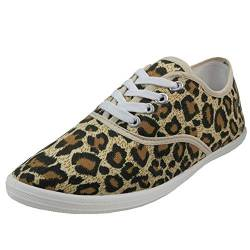 Shoes 18 Womens Canvas Shoes Lace up Sneakers 18 Colors Available (7 B(M) US, Leopard 324) von Shoes8teen
