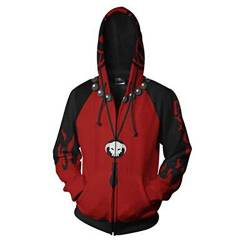 Unisex One Piece Cosplay Hoodie, Luffy 3D-Druck Hoody Zipper-Jacke (Color : Ace, Size : Large) von Shuihua - Kapuzenpullover