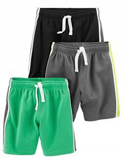 Simple Joys by Carter's 3-Pack Mesh Short, Black, Green, Gray, 5T, 3er von Simple Joys by Carter's